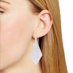 New Kendra Scott Gia Drop Earrings in Bright Silver $68